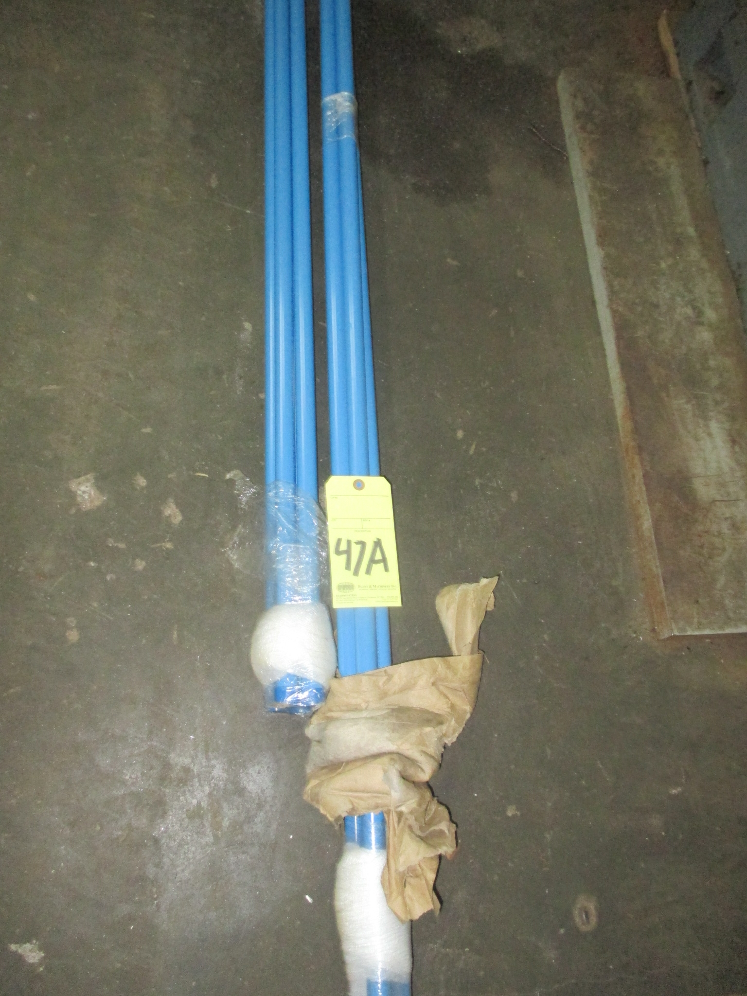 Lot 47A - LOT CONSISTING OF: aluminum air tube, air hose & fittings