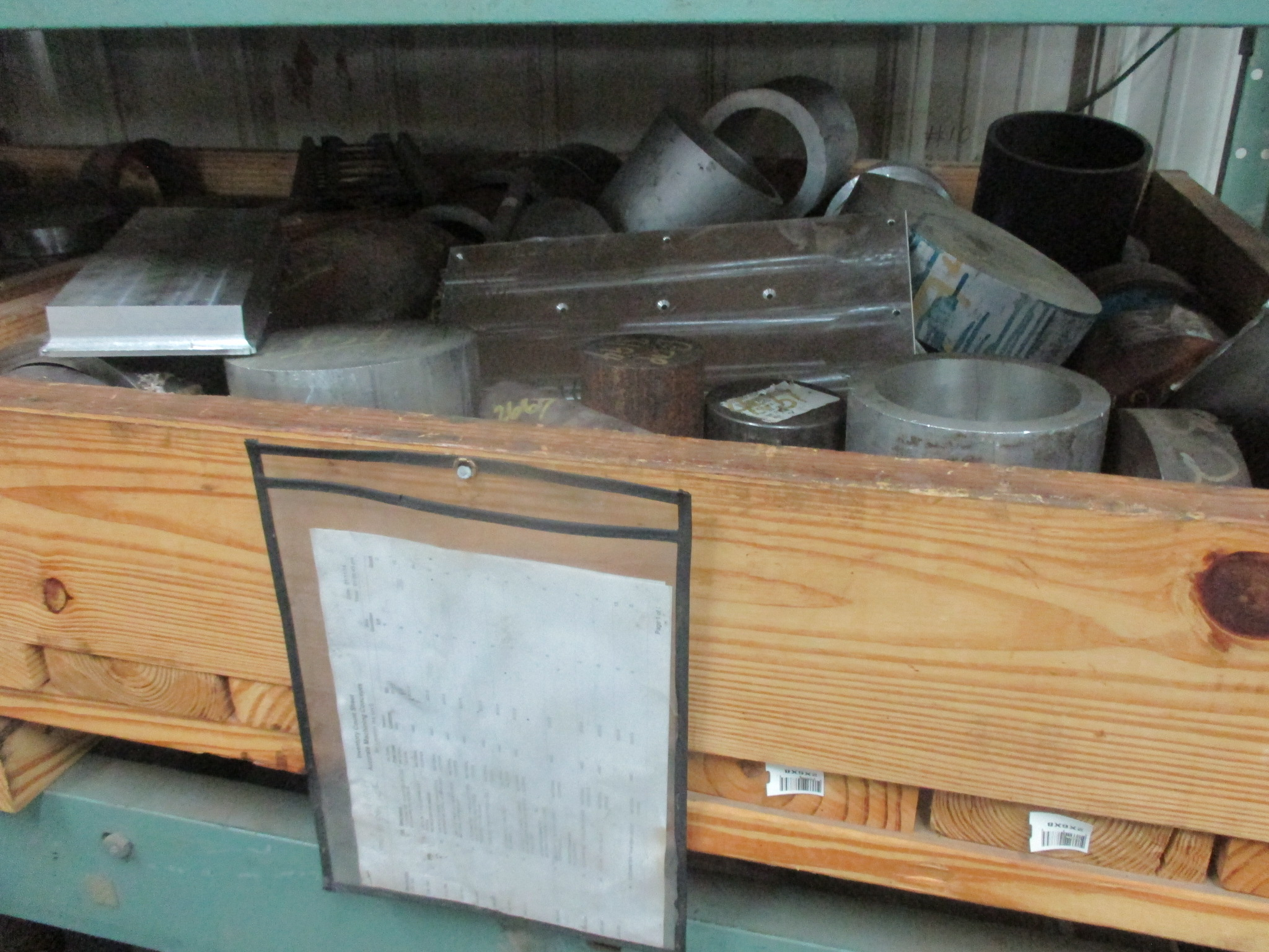 Lot 50 - LOT OF RAW MATERIAL: barstock & shapes, in aluminum, stainless steel & mild steel grades