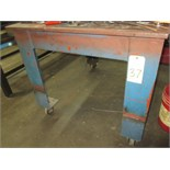 ROLLER TABLE, 4-1/2' x 3-1/2', H.D., w/vice (delayed removal until 08/24/17)