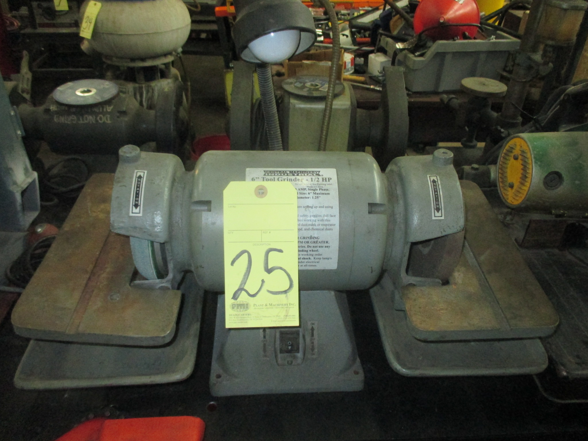 "Lot 25 - TOOL GRINDER, CENTRAL MACHINERY 6"", 1/2 HP"