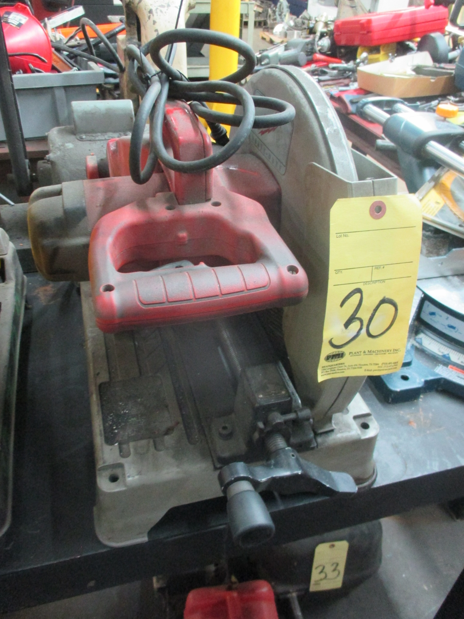 Lot 30 - CHOP SAW, MILWAUKEE 14""
