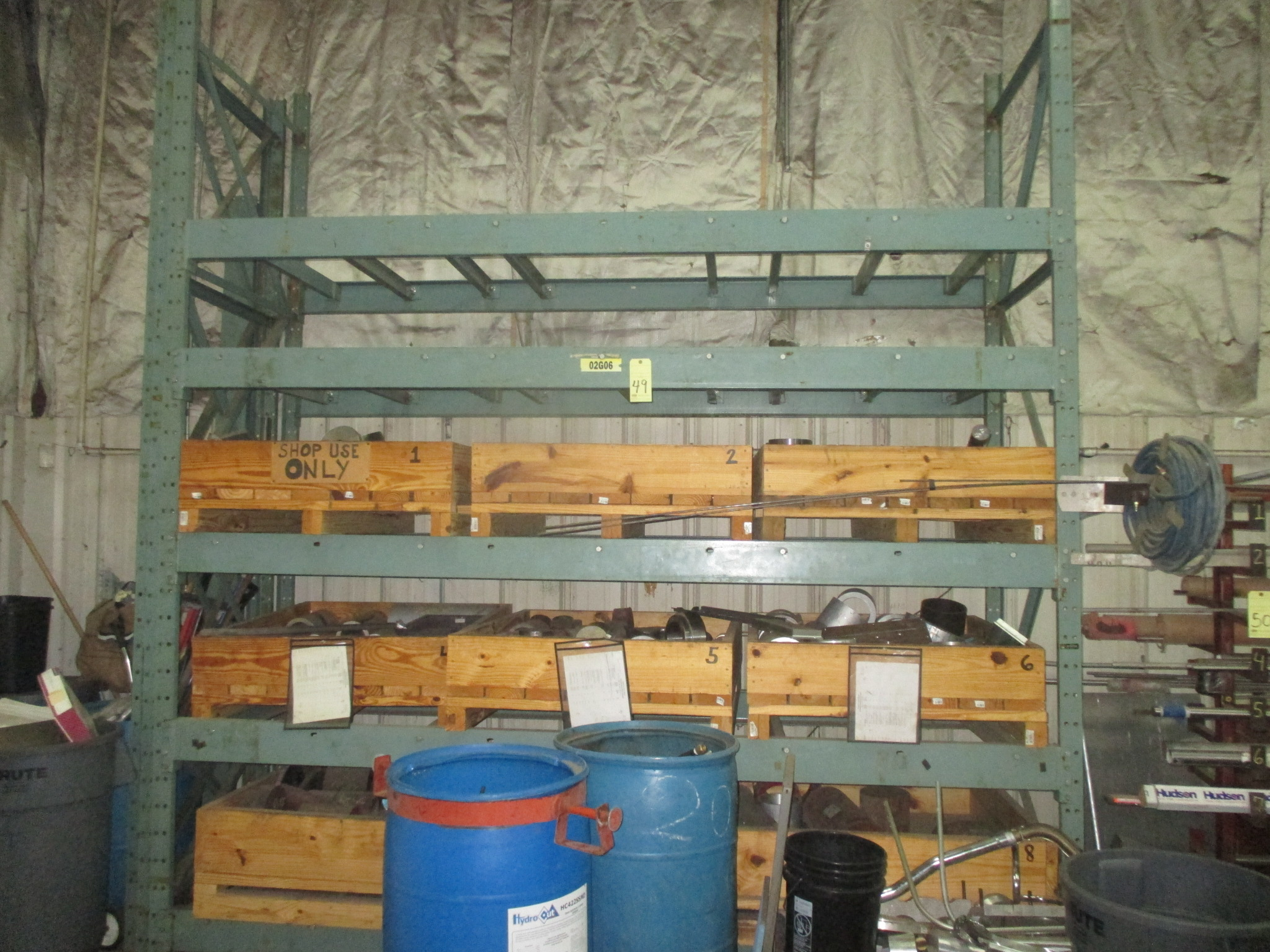 Lot 49 - PALLET RACK SECTION, 15' x 10' x 3-1/2 dp.(delayed removal until 08/24/17)