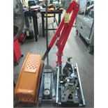 LOT CONSISTING OF: truck jack, lifts, stand, creepers, truck hoist