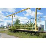 53' TANDEM AXLE FLATDECK TRAILER WITH SAFETY ANCHORING FRAME SYSTEM, S/N N/A (OFF-ROAD/YARD