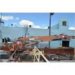 HOOD 7000 HYDRAULIC STATIONARY GRAPPLE LOADER WITH 20' ARM, OPERATOR STATION, HOOD 250DF LOG