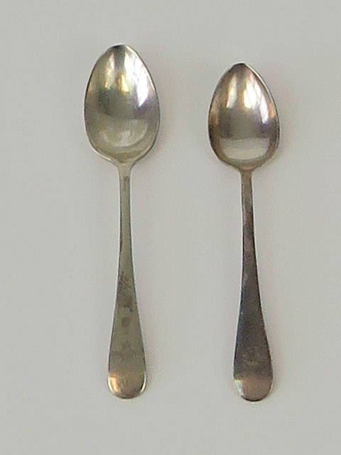 Lot 8 - RAF; two silver plated teaspoons by Deyk