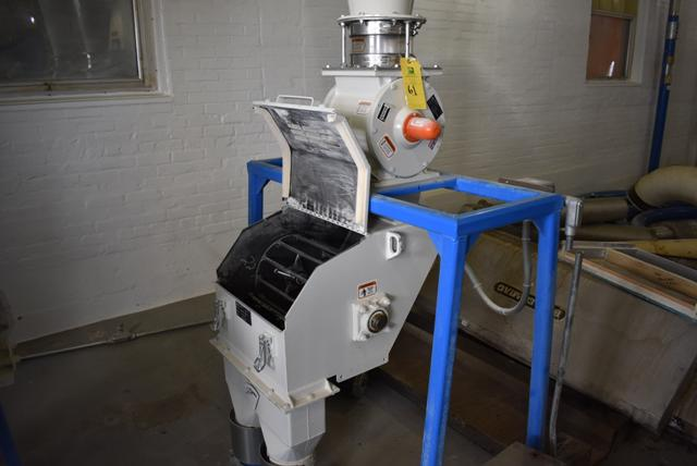 Lot 61 - KICE Impact Mill Model #RST12-18-6-2, Includes Cyclone and KICE Model #VJ10x8x8 Rotary Valve