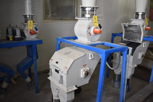 Lot 60 - KICE Impact Mill Model #RST12-18-6-2, Includes Cyclone and KICE Model #VJ10x8x8 Rotary Valve