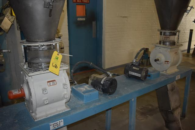 Qty. (2) KICE Model #VJ10x8x8 Rotary Valves, Includes Cyclones - Image 2 of 3