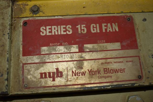 Lot 137 - New York Blower, Size 334/Series 15 GI Fan, 40 HP Motor