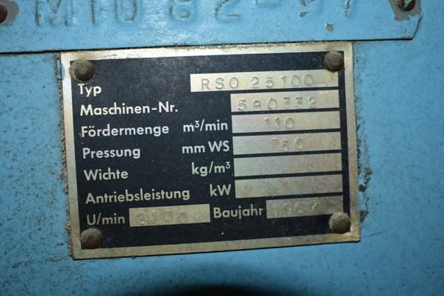 Lot 79 - MIAG Type RSO-25100 Blower w/Baldor 30 HP Motor