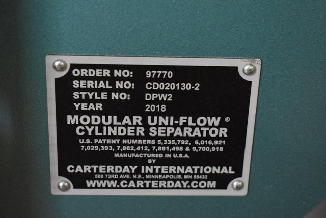 Lot 120 - 2018 Carter Day/Jacobson Modular Uni-Flow Cylinder Separator, Style #DPW2