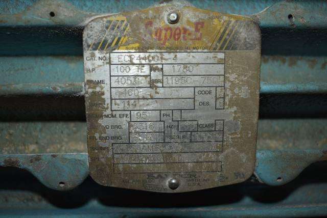 Lot 80 - 100 HP Blower Package
