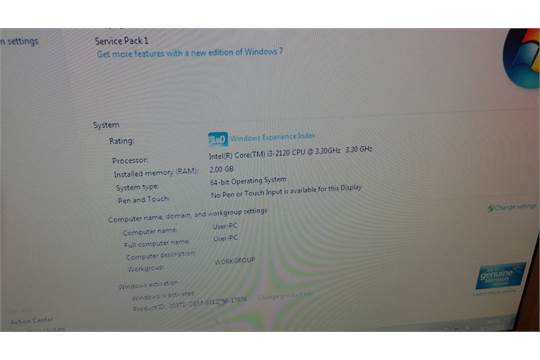 HP Pro 3300 Microtower Computer - Intel Core i3 3 0Ghz - 2GB