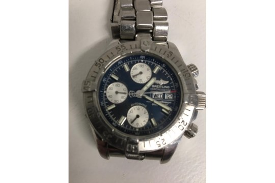 Breitling Superocean chronograph, automatic movement, original stainless bracelet