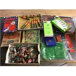 Qty vintage toys, puzzles, Subbuteo etc.