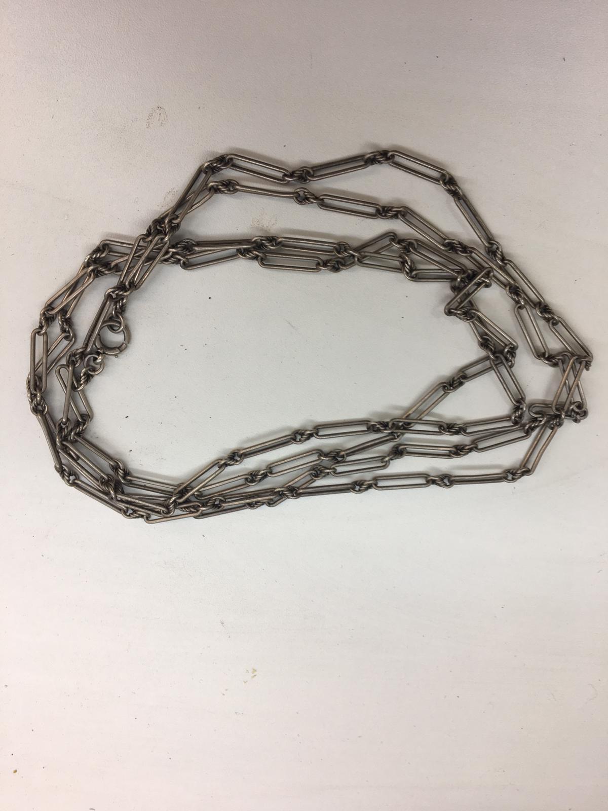 HM Silver longuard chain 67g.