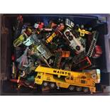 Box of vintage diecast toy cars.
