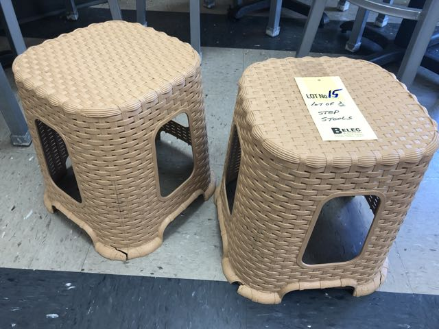 Lot de (2) marches step stools