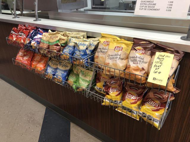 Lot de (5) racks à chips