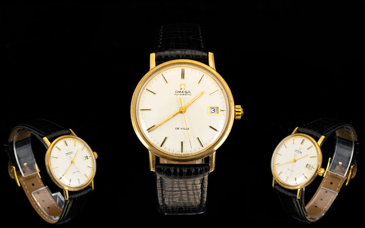 Lot 36 - Omega 18ct Gold Seamaster Deville Automa