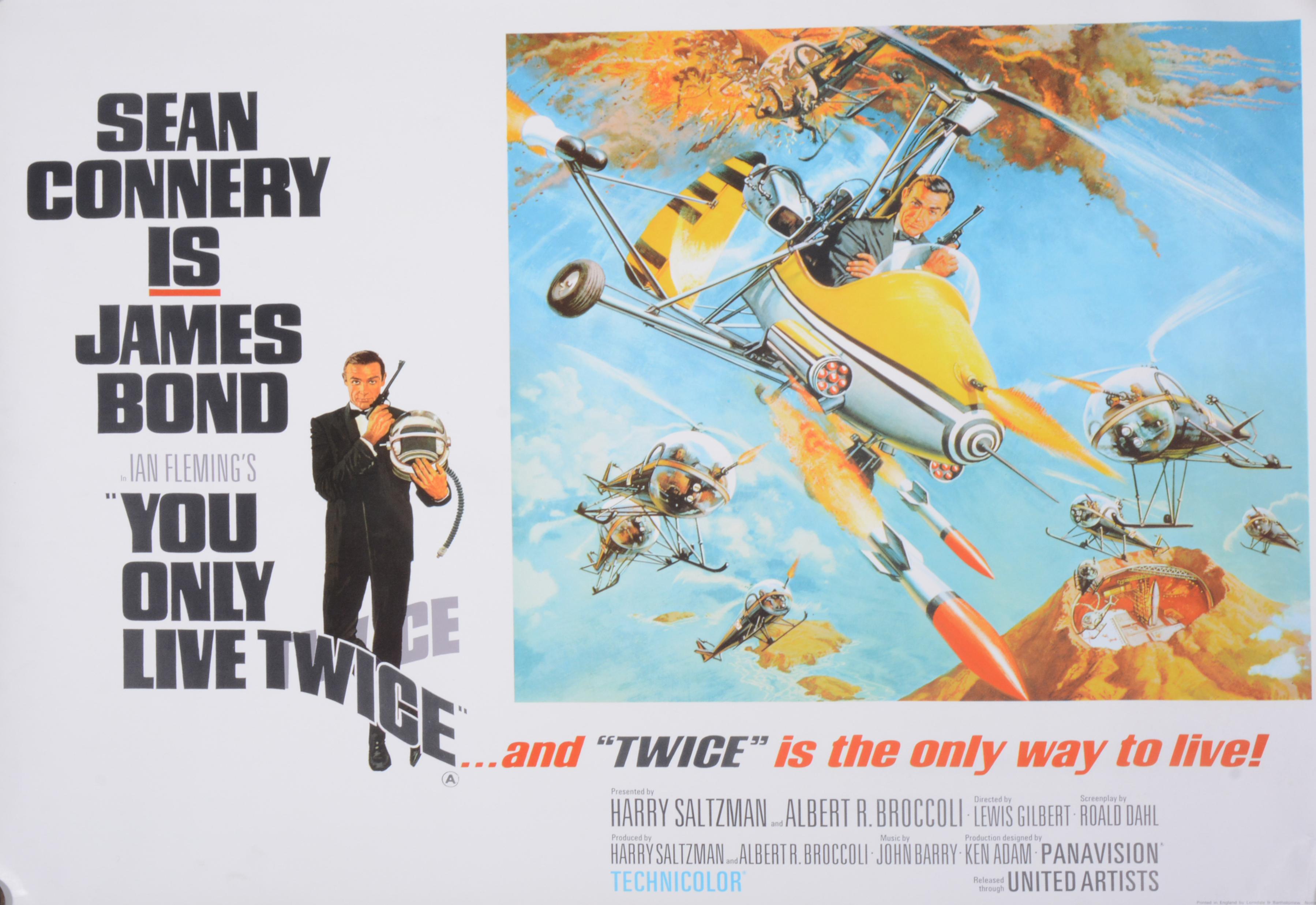 "Lot 121 - Original James Bond film movie poster ""You Only Live Twice"" full size single sheet depicting James"
