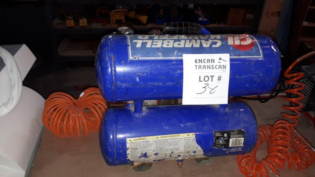 Lot 38 - CAMBELL HAUSFELD Air Compressor