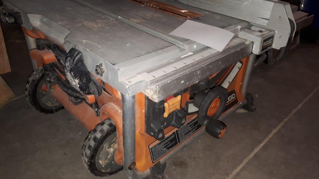 Lot 35 - RIGID Portable Table Saw