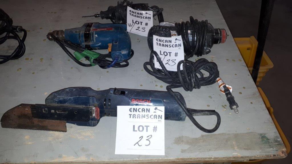 Lot 23 - LOT: (4) Asst. Power Tools