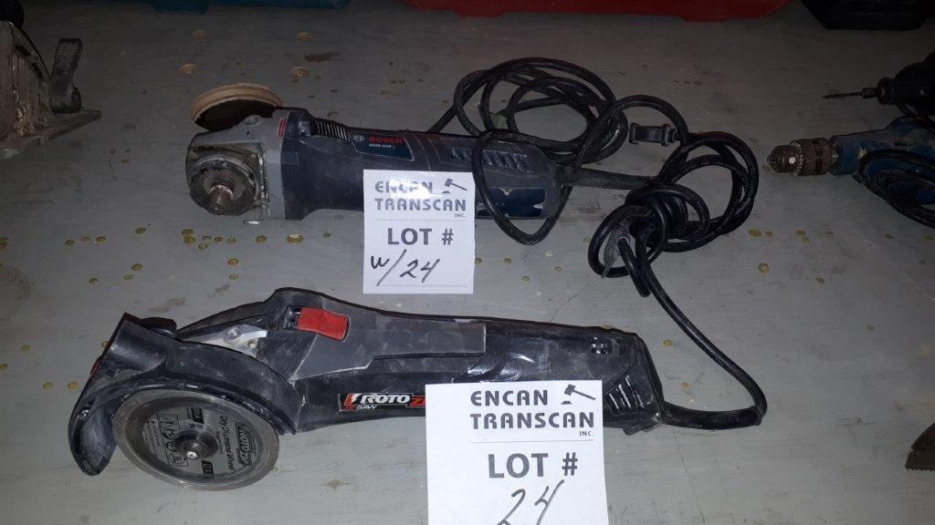 Lot 24 - LOT: (2) Asst. Power Tools