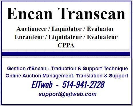 Lot 0 - Assistance technique /Technical assistance: 514-941-2728 - support@ejtweb.com