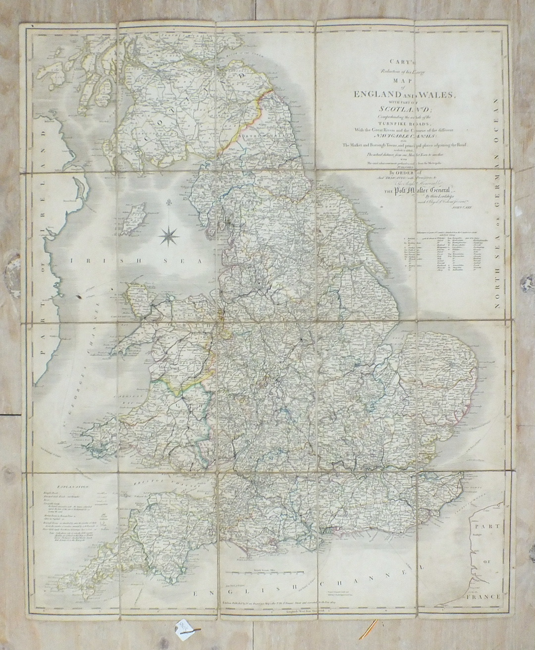 Lot 137 - Cary (John), Cary's Reduction of his Large Map of England and Wales with Part of Scotland.....