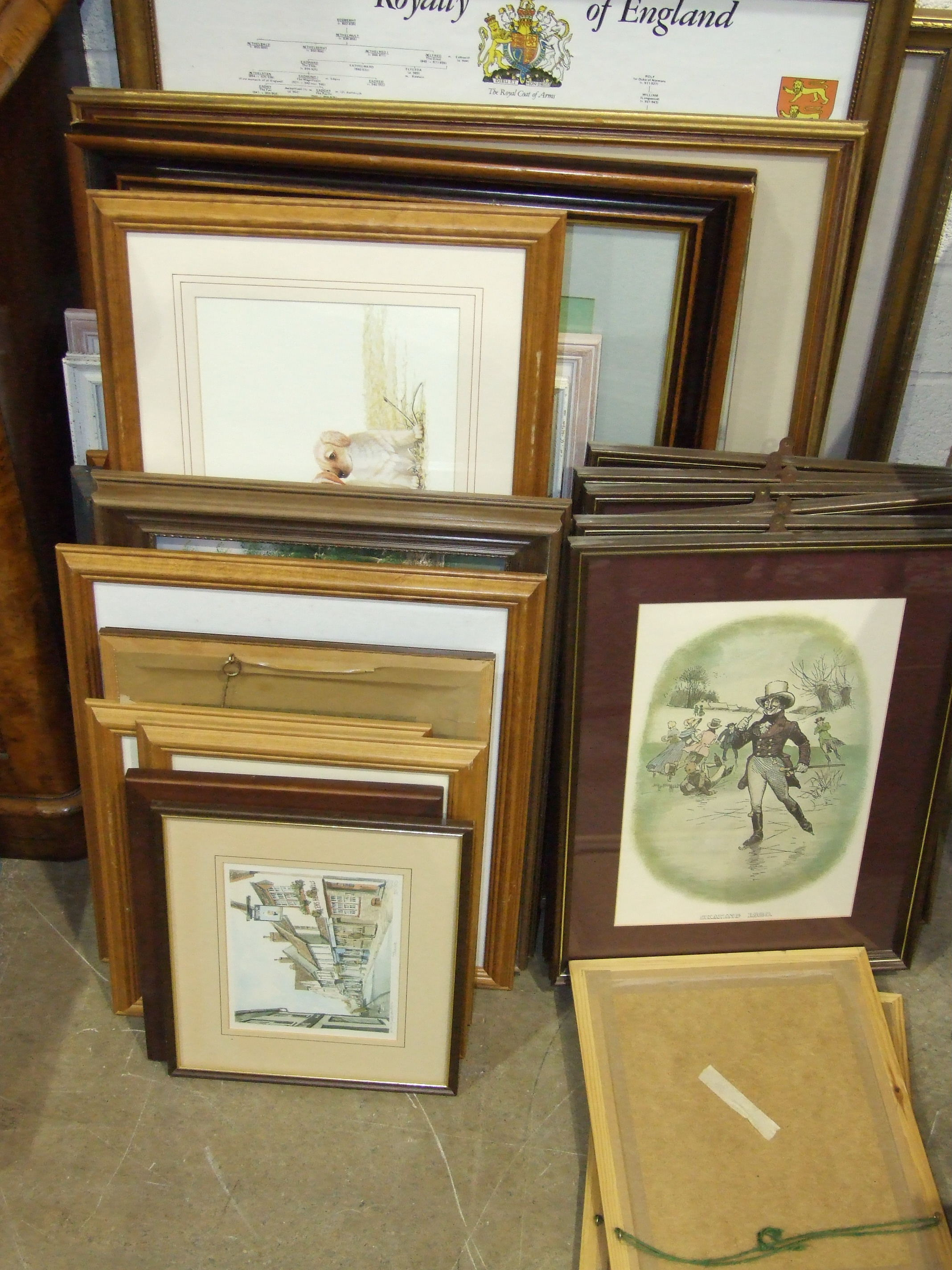 Lot 21 - A collection of paintings and prints.