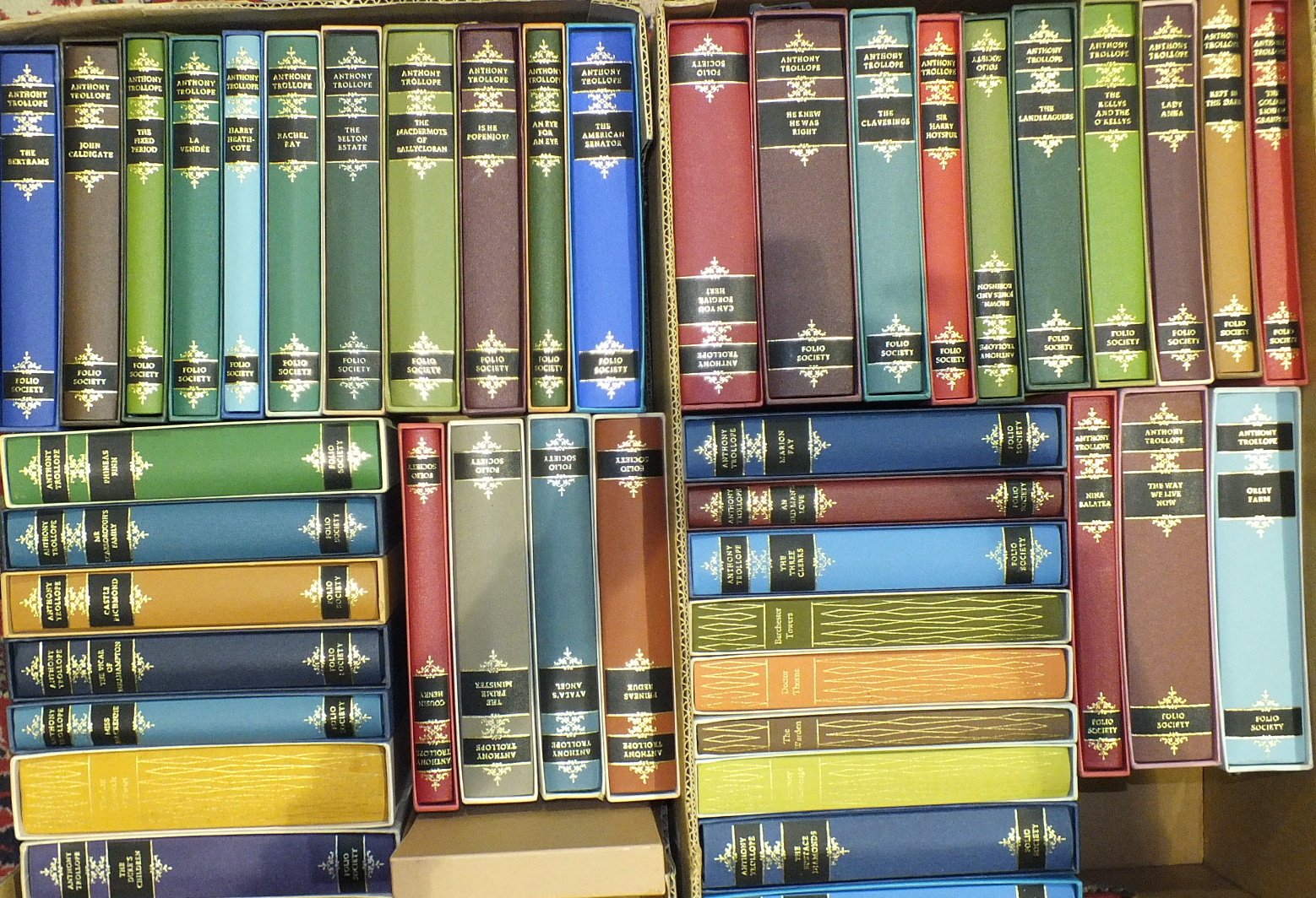Lot 48 - Trollope (Anthony), Works, 47 vols, plts, hf cl gt, 8vo slipcase, c1990, Folio Society, (47).