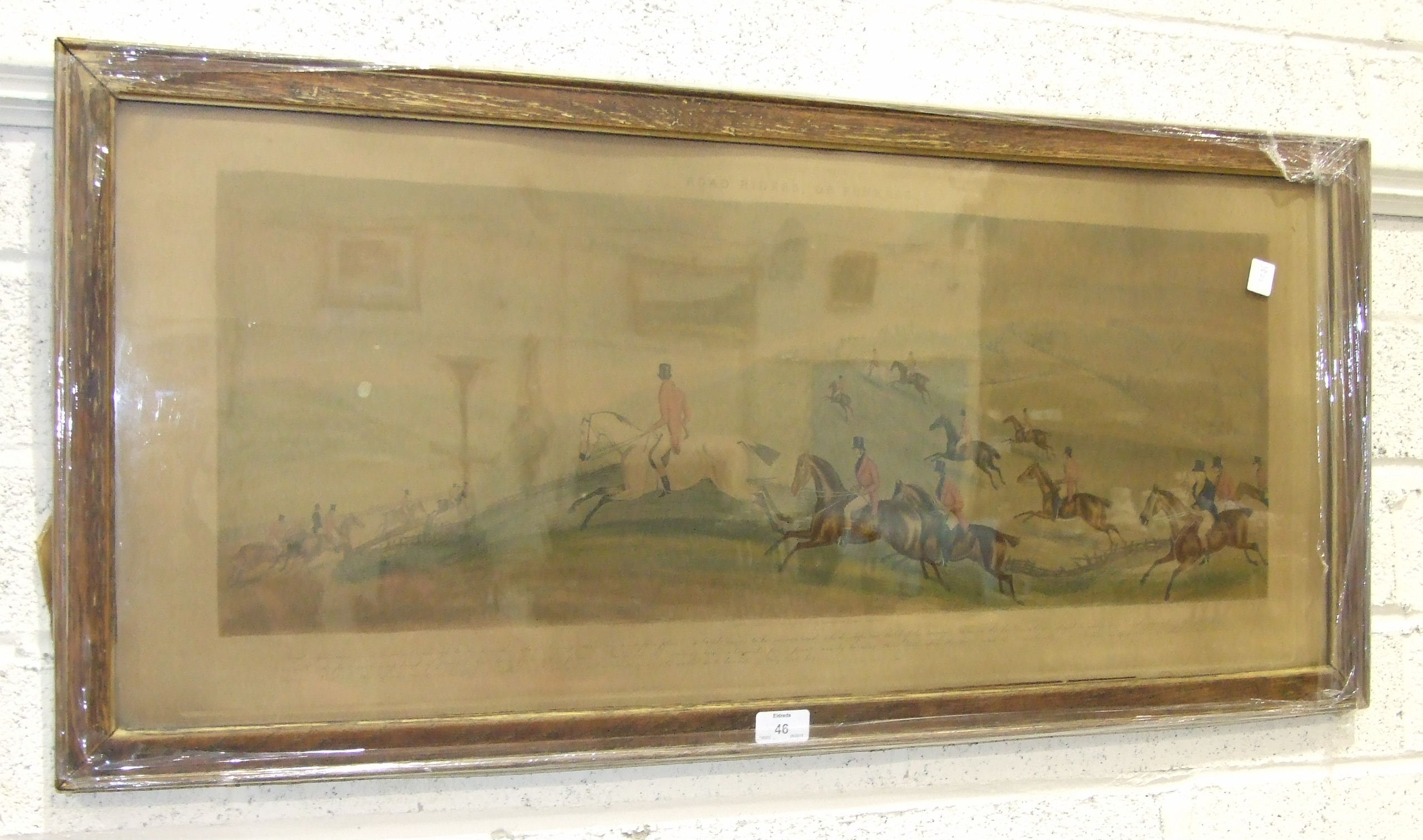 Lot 46 - Hunt after Davis, coloured hunting print, The Few, Not Funkers and a companion, Road Riders or