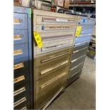 8 DRAWER INDUSTRIAL PARTS CABINET/TOOL BOX WITH CONTENTS