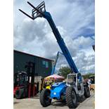 2014 GENIE GTH844 TELESCOPIC FORKLIFT, DIESEL, 8,000 LB CAPACITY, 1,919 HOURS SHOWING, RUNS AND OPER