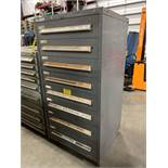 STANLEY VIDMAR 8 DRAWER INDUSTRIAL PARTS CABINET/TOOL BOX WITH CONTENTS