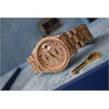"""Mens Solid Gold Rolex Diamond/ Ruby Day-Date """"Super President"""" Watch"""
