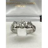 PLATINUM 3 STONE DIAMOND TRILOGY RING 1.25ct