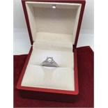 18ct WHITE GOLD 1.63ct DIAMOND RING