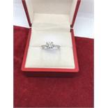 18ct WHITE GOLD 1.52ct DIAMOND RING
