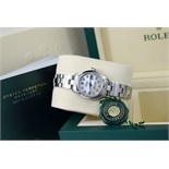 Rolex Lady DateJust 26mm - Steel with White Mother of Pearl Diamond Dial