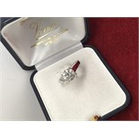 1.72ct DIAMOND SOLITAIRE RING MARKED 750 ( TESTED AS 18ct GOLD)