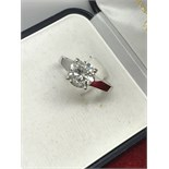 2.01ct DIAMOND SOLITAIRE RING MARKED 750 ( TESTED AS 18ct GOLD)