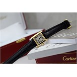Cartier - Tank Francaise in 18k Gold with Gold Buckle