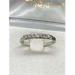 9k WHITE GOLD 7 DIAMOND 1/2 ETERNITY RING