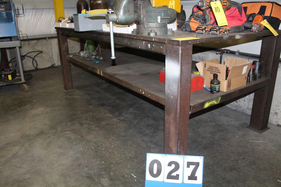 Lot 27 - 4' X 8' HD STEEL TABLE