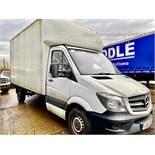 (RESERVE MET) Mercedes Sprinter 313 2.1 CDI 14ft Luton Box Van - 2015 ,1 Keeper From New - Tail Lift
