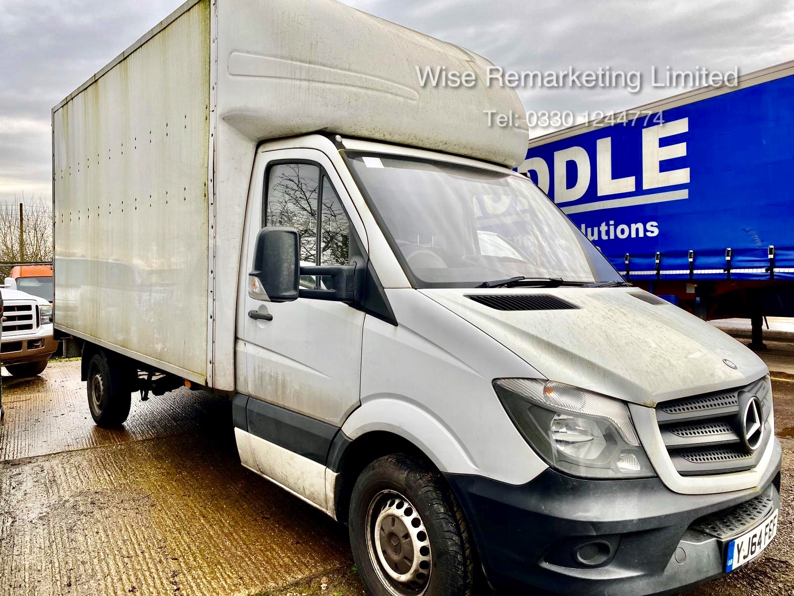 Lot 11 - (RESERVE MET) Mercedes Sprinter 313 2.1 CDI 14ft Luton Box Van - 2015 ,1 Keeper From New - Tail Lift